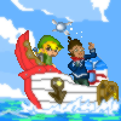 pixel art Phantom Hourglass phantom of zelda link sword The legend boat hourglass by Masto91 piq