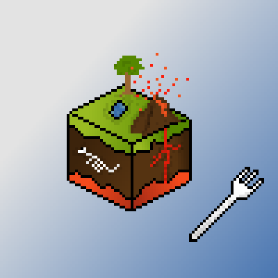 pixel art Here is your slice of earth by Some elixir piq