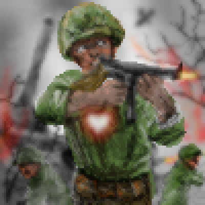 pixel art Still got a heart  duty heart battlefield of gun soldier call war by Masto91 piq