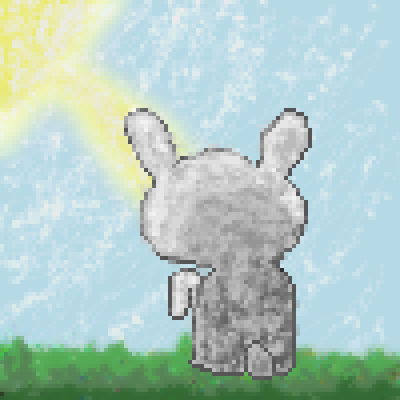 pixel art The Chosen Bunny by GreatAlina piq