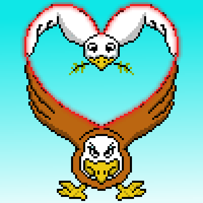 pixel art peace and war eagle love heart peace dove war by cesarloose piq