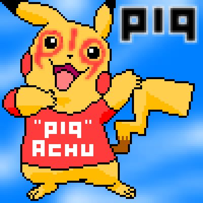 "pixel art ""PIQ""Achu pokeball pikachu yellow PIQ pokemon pixel by Masto91 piq"