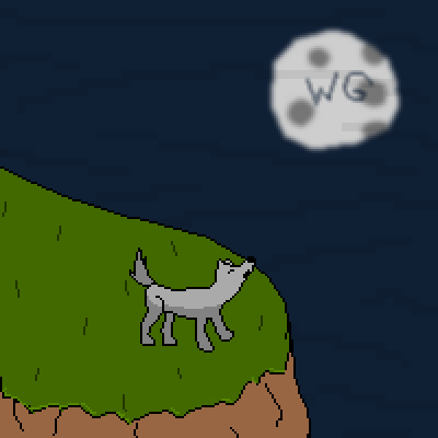 pixel art Howlin' at the Moon wg sky moon wolfgirl456 howling wolf night grass cliff by wolfgirl456 piq