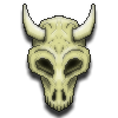 pixel art bull skull 2 head skull macabre face avatar bull bones by cesarloose piq