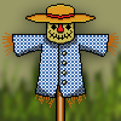 pixel art scarecrow farm crow avatar scarecrow scare man by cesarloose piq