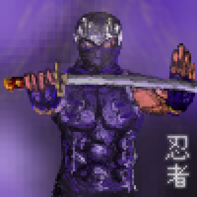 pixel art Ninja 忍者 warrior japan katana japanese piq samurai mortal ninja pixel kombat by Masto91 piq