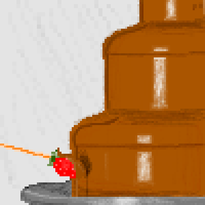 pixel art chocolate fountain strawberry fountain chocolate by pixelover piq
