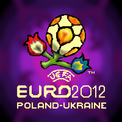pixel art Euro2012 Poland-Ukraine sport 2012 football player ball logo soccer uefa euro by Masto91 piq