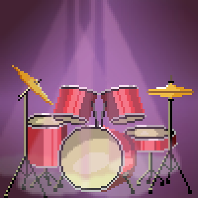 pixel art Drumkit by pocket_nine9s piq