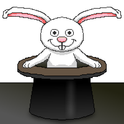 pixel art Magic hat cute magic avatar rabbit hat bunny by cesarloose piq