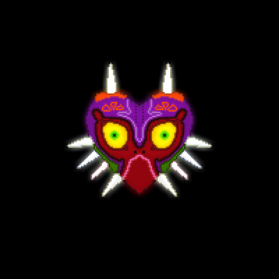 pixel art Majora's Maks skull of majora's mask zelda evil horn dark majora link lol kid loz lord tribal doom legend happiness happy by darklord piq