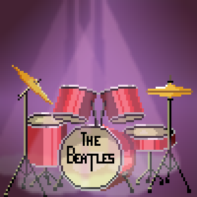 pixel art the beatles by lostarms piq