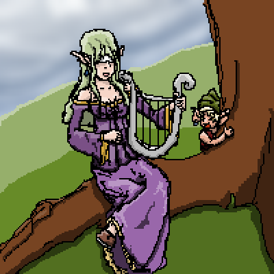 pixel art A Blind Elf by Fuzzy piq