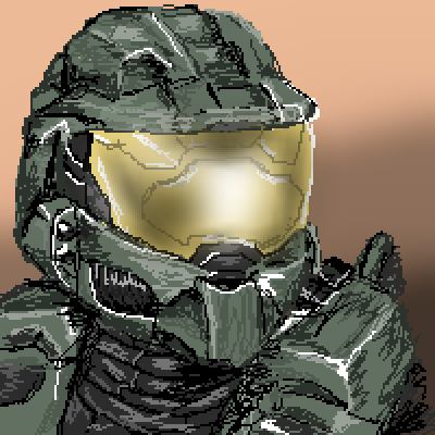 pixel art Master Chief 3 chief 1 game 2 games 4 master vid