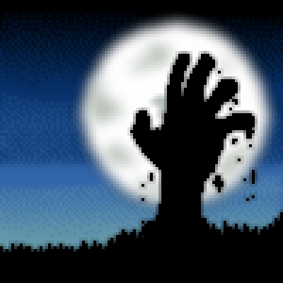 pixel art emerging from the underground underground undead emerging corpse hand by cesarloose piq
