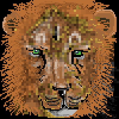 pixel art Aslan by ibeany brown animals cute amazing lion witch wild by ibeany piq