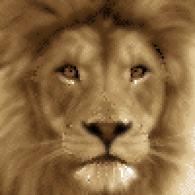 pixel art Wild king (with blur effects) king head big cat face lion avatar wild cat by cesarloose piq