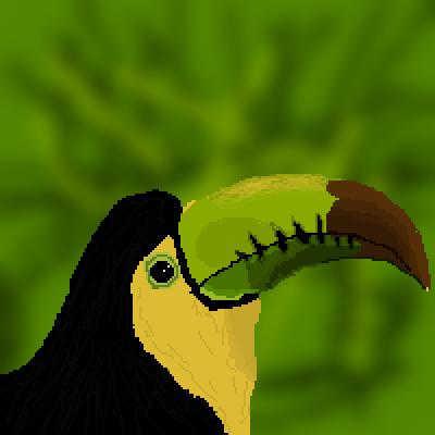 pixel art Toucan by XAIDANX piq