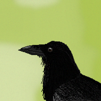 pixel art crow crow black bird animal cool by XAIDANX piq