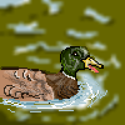 pixel art mallard duck farm colours ibeany duck by ibeany piq