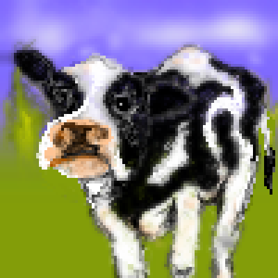pixel art collaboration by ibeany farm ibeany cow pixelwiz by ibeany piq