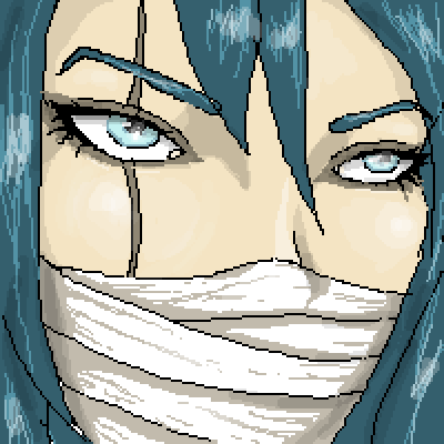 pixel art  (not) an anime girl. by Paulanna piq