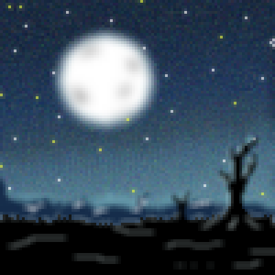 pixel art landscape desert at night shadows trees moon night desert landscape by cesarloose piq