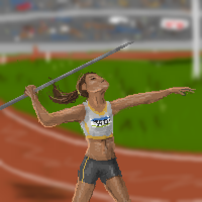 pixel art The athlete by Paulanna piq