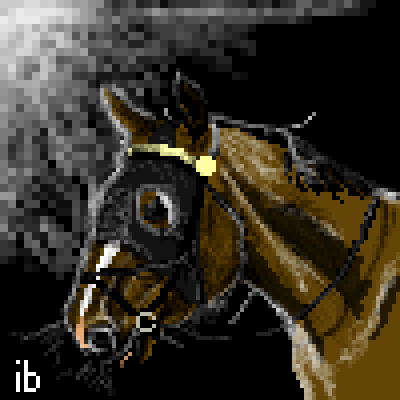 pixel art Under the Light horse sport racing ibeany by ibeany piq