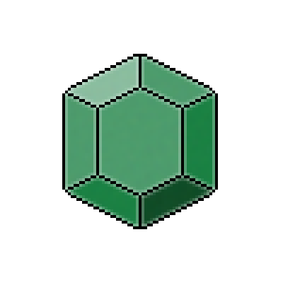 Pixel Art Emerald Item Gems