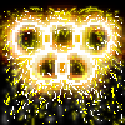 pixel art Showering sparkles of the 5 rings rings olympics 2012 by sichiu piq