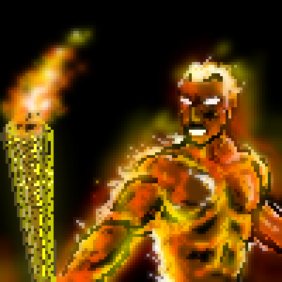 pixel art Flame on! Game on! torch olympics 2012 by sichiu piq