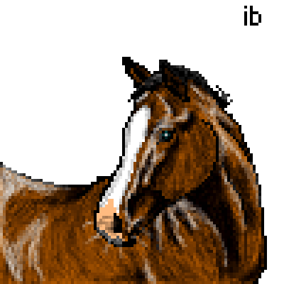 pixel art Farm Filly horse pony ibeany filly by ibeany piq