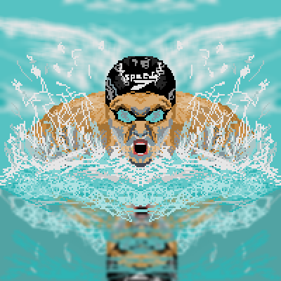 pixel art Olympic Games Swimmer swim olympic swimmer water london games 2012 swimming by Masto91 piq