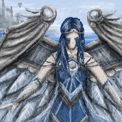 pixel art Mechanical angel by Paulanna piq