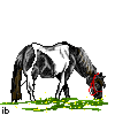 pixel art Pinto Pony horse pony ibeany filly by ibeany piq