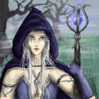 pixel art The Sorceress by Paulanna piq