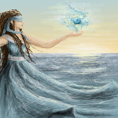 pixel art Ruler of the elements by Paulanna piq