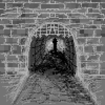 pixel art untitled dark alley by miss m piq