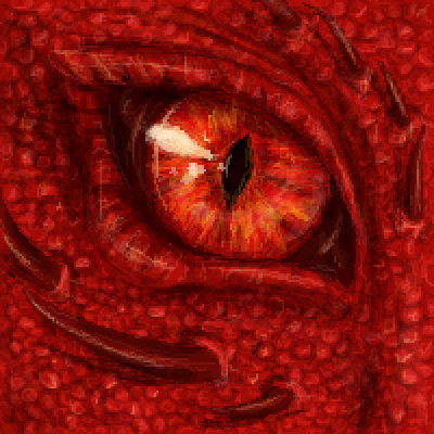 pixel art Fire-eyed by Paulanna piq
