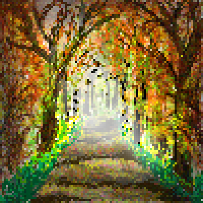 pixel art Lane in the autum autum lane by miss m piq