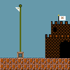 Mario flag and castle
