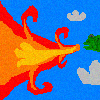 Dragon breathing fire