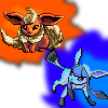Flareon and Glaceon