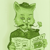 A green gentleman... cat.
