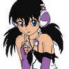 Black-Haired Girl With Purple Headphones