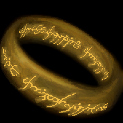 pixel art The One gold color lotr SkylarSkye ring lord of the rings by IvoryMalinov piq