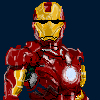 iron man with cool glasses