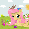 happy easter with fluttershy!