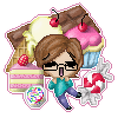 Chocolate Cake Pixel Art : piq - I love sweets *w* 100x100 pixel art by Nekoru